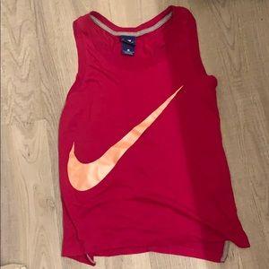 Nike pink cotton tank xs